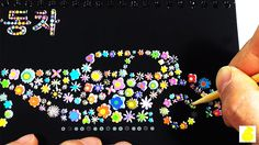 Scratch mini board play Riding toy baby doll princess egg surprise puppy...