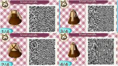 ACNL Brown Overalls QR