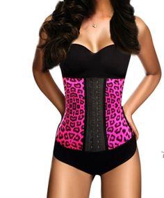 Pink leopard waist trainer   Waist Trainers
