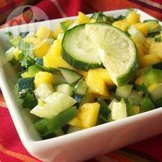 Trinidad Mango Cucumber Salad @ allrecipes.co.in
