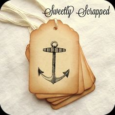 Anchor Tags, Vintage Looking - Sweetly Scrapped