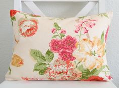 Accent pillow - Decorative pillow cover - Lumbar pillow - Accent pillow - 12x16 - Designer fabric. $25.00, via Etsy.