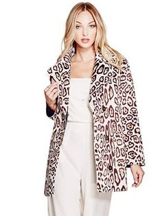 Sally Faux-Fur Coat | shop.GUESS.com