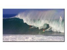Tableau Toile imprimée 100x50 cm Grosse vague avec Kelly Slater