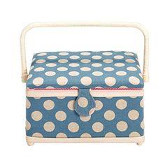 612120 Nähkorb Dots Leinen M Prym | Sewing basket dots Prym