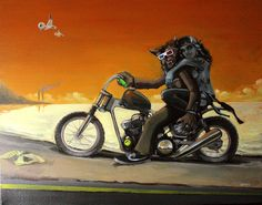 Pic niC of a Classic MonsteR RidE!!!-Original Art /Acrylic on canvas 40cm X 49,5cm.