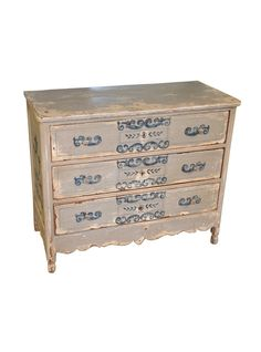 Love the country details of this Spanish Antique Commode in Painted Wood | The HighBoy | www.thehighboy.com