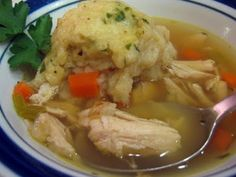 In the crockpot now....way more healthy than Cracker Barrel - Shelby's favorite...we'll see how she likes it....Crockpot Chicken & Dumplings