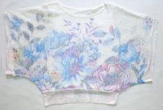 Floral fishnet sweater