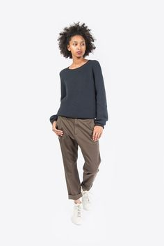 Real Sweater, Dark Grey by Hope #kickpleat #hope #sweater