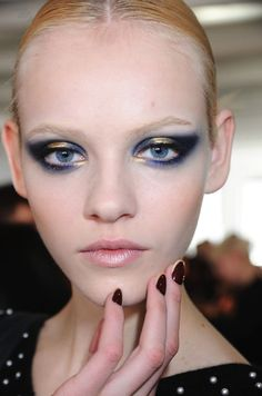 Blue and gold look good together. This look is a little extreme but it's nice for inspiration.