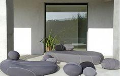 Mobilier de jardin design noir et gris
