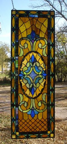 Quilted Victorian Stained Glass Window MM17 | Stained Glass and More, Inc.