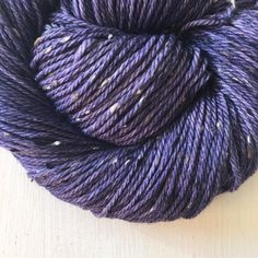 I love this colour on the Gallant base. A beautiful indigo and super soft. What would you make with it?