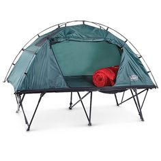 Not a fan of sleeping on the ground? Compact, XL Foldable Tent Cot brings you up a level!