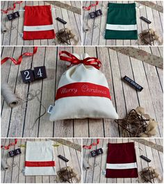Merry Christmas, Christmas Bag, Gift, december, handmade art Christmas Christmas, Handmade Art, Gym Bag, December, Santa, Embroidery, Red, Gifts, Weihnachten