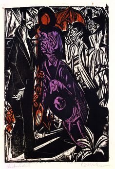 Ernst Ludwig Kirchner, The sale of the Shadow, 1915