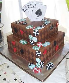 The sweetest & funniest Poker Cake!