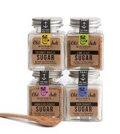 Sugar Trader Gift Set - Coconut Sugar, Rum Sugar, Lime Slice & Jamaican Ginger | Old Salt Merchants