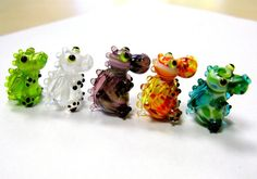 baby dragon handmade lampwork beads from Germany