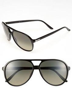 56d5d7cc9d  Gucci  Eyewear  Gucci  59mm  Aviator  Sunglasses  Black  Size