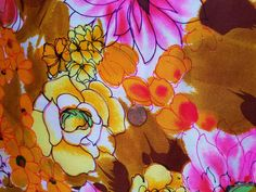 Vintage Alexander Henry Inc. By Hakusan Bright Floral Fabric 2 1/4 Yards 45  Wide  Vibrant print is a lightweight synthetic blend with a crepe like texture. N...   https://nemb.ly/p/VJbQp1=p_ Happily published via Nembol
