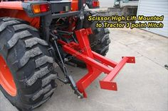 Fred Cain Tractor 3 Point Hitch Scissor High Lift Hay Lift #3F to raise a bale higher to load or double stack using #3F Bale Spear Made in USA Free Shipping