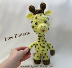 How To Crochet A Giraffe - Pattern by Sharon Ojala