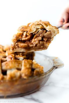 Warm and sweet homemade deep dish apple pie flavored with delicious chai spice! recipe on Salted Caramel Apple Pie, Caramel Pears, Apple Crumble Pie, Apple Pie Bars, Homemade Pie Crusts, Homemade Apple Pies, Banoffee Pie, Good Desserts To Make, Deep Dish Apple Pie
