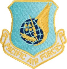 Pacific Air Force Patch - under this command while on tour in South Korea