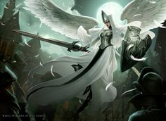 Magic the Gathering - Angelic Overseer by Jason Chan