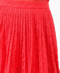 Pleated Textured Lace Skirt | FOREVER21 - 2017307754