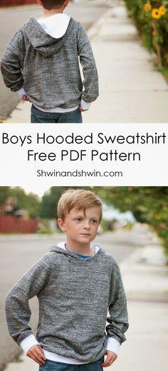 Sewing pattern for Hooded Sweatshirt