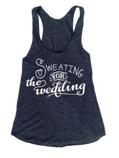 Sweating for the wedding Racer back workout fitness tank American Apparel - Unique design