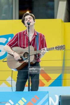 Blake Richardson of the pop group New Hope Club performs on stage during the 22nd Annual Arthur Ashe Kids' Day at USTA Billie Jean King National Tennis Center on August 26, 2017 in the Queens borough of New York City.