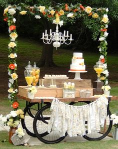 RUSTIC YELLOW DESSERT TABLE {Guest Feature}
