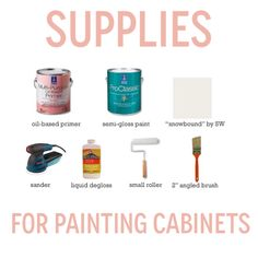 Supplies - How to paint kitchen cabinets | My Pretty Pennies