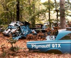 Richard Petty's graveyard. The Barracuda in the back must be one of the old drag cars.
