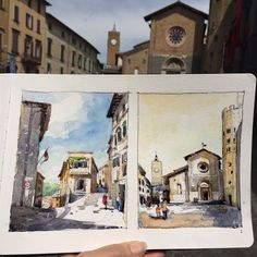 Warming Up in Italy--One day, Four sketches