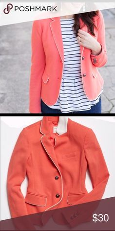 Gap Academy Blazer Coral Cute and stylish coral blazer with silver detailed buttons. Pair with a blouse for the office or with a tee for a casual and fun look. GAP Jackets & Coats Blazers