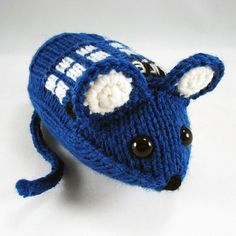 Tardis mouse - our top 9 nerdy projects for you to knit and crochet - find them over on the LK blog!
