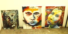 More portraits by me ! Portraits, Painting, Art, Head Shots, Painting Art, Paintings, Kunst, Paint, Draw