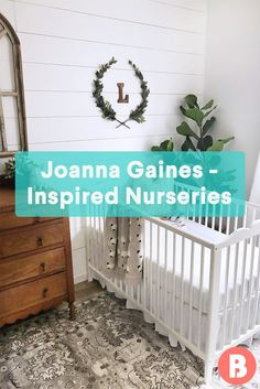 Check out these Joanna Gaines-inspired nurseries to get your creative juices flowing faster than you can say 'Chip Carter Gaines'. Nursery Inspiration, Nursery Ideas, Color Inspiration, Nursery Decor, Room Ideas, Joanna Gaines Baby, Girl Shower, Baby Shower, Nursery Neutral