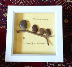 Thank you teacher pebble art by DebstaArt on Etsy