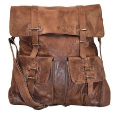 Sade Large Leather Bag Brown By Burin