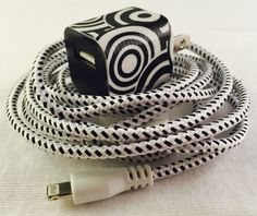 A personal favorite from my Etsy shop https://www.etsy.com/listing/214843563/iphone-charger-with-wall-adapter-wall