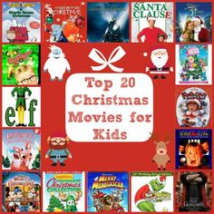 Top 20 Christmas movies for kids- some classics and some new faves! Top Christmas Movies, Christmas Movie Night, Christmas Shows, Holiday Movie, All Things Christmas, Christmas Holidays, Christmas Crafts, Christmas Classics, Christmas Ideas
