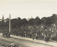The Old Burial Ground (now occupied by the Sydney Town Hall) was used between September 1792 and 1820, when it officially closed. Its replacement was the Sandhills Cemetery (Devonshire Street Cemetery), which later became the site of Central Railway Station. By the 1840s there were concerns about overcrowding and over the next twenty years a number of alternative locations were considered. In 1862 the government purchased 200 acres of land 'near Homebush on the Railway Line