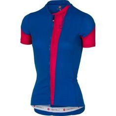 Castelli 2017 Women s Spada Full Zip Short Sleeve Cycling Jersey - A17067  (matte blue  193532e4a