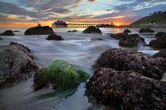 malibu pier - malibu, california #Malibu #pier #sunset #stunning